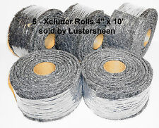 """Xcluder - Rodent & Pest Fill Fabric, 5 Ea of the 4"""" x 10' ft roll"""