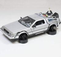 BACK TO THE FUTURE 2 1/24 DeLorean Time Machine DIECAST CAR NEW