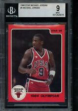 1986 Star #3 Michael Jordan BGS 9 from Subset Bag 1984 Olympian