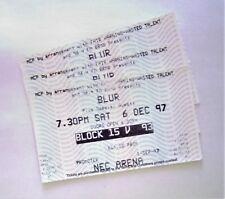 RARE Blur Mermorabilia - Tickets Stub(s) NEC Arena Birmingham 06/12/97