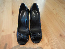 Ladies, black, Dunes shoes, size 5 UK, 38 EU