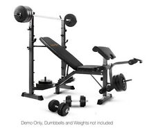Weight Bench Fitness Adjustable with Leg and Bicep Stations Gym Ab BRAND NEW