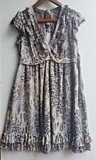 Next Petite Ladies Brown Animal Print Top Sleeveless Blouse Dress Size 10