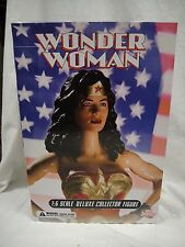 "DC DIRECT WONDER WOMAN DELUXE COLLECTOR FIGURE 13"" 1/6 Scale Girl JLA Statue"