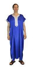 Men Caftan Kaftan Moroccan Thobe Abaya Dishdasha Arab Kameez Gandoura Blue