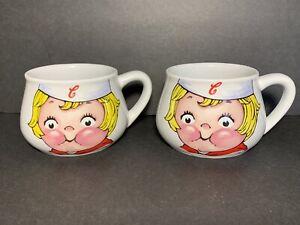 Vintage Campbell's Kids Soup Mug Cup Bowl 1998 Houston Harvest Set of 2