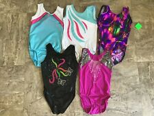 New! Lot Of 5 Gymnastics Leotard Size 8=Cm!