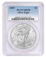 2019 1oz Silver Eagle PCGS MS70 Blue Label