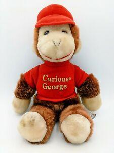 "Vintage Curious George Stuffed Animal Monkey 12"" Eden Toys 1984"