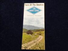 Vintage Gray Line Bus Tour of the Smokies Travel Brochure Smokey Mountains Q167