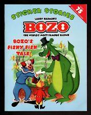 BOZO the Clown:  Fishy Fish Tale  Sticker Stories -  NEW -  FREE  S/H  OFFER
