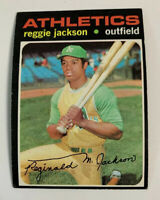 1971 Reggie Jackson # 20 Oakland Athletics A's Topps Baseball Card HOF