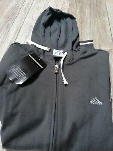 Adidas Felpa Giacca Uomo/Donna Taglia S Unisex colore grigio con cappuccio.