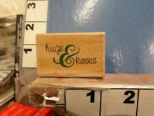 Hugs and Kisses saying RUBBER STAMP 32u