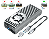 ineo M.2 NVMe (PCIe) SSD Enclosure Built-in Cooling Fan and Write Protection