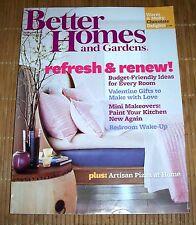 Better Homes and Gardens Magazine February 2012 Valentine's Day Fun Ideas Recipe