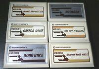 Commodore VIC 20 Game Cartridge Lot Omega Road Race Avenger Sky Falling Babysitt