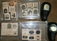 STAMPIN' UP! STAMPS, TAG & DESIGNER LABEL PUNCH LOT PUNCHES