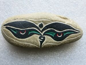 Hand carved and painted stone from Tibet / Nepal.