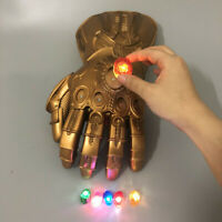 2019 Thanos Infinity Gauntlet Gloves Legends LED Light Avengers Cosplay PVC Gift