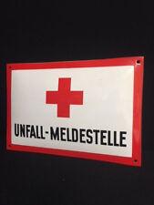 UNFALL=MELDESTELLE Rotes Kreuz - Emailleschild 24,5 x 36,5 cm - D um 1950 T O P