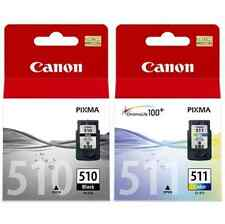 1 X PG-512 BLACK + 1 X CL-511 COLOUR PIXMA MP240 MP250 Original Inkjet Cartridge