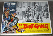 MOTORCYCLE GANG original 1972 lobby card movie poster USCHI DIGARD/THE DIRT GANG