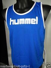 HUMMEL TEE SHIRT DEBARDEUR BLEU ET BLANC SR TAILLE L / XL BASKET BALL SPORT NEUF