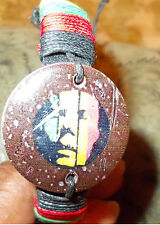 Rastafarian RED BLACK GOLD WRIST BAND Wood Casual Dress Hand crafted wrist band