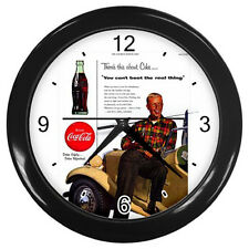 Wall Clock Coca Cola Retro Ads 1934 Drive Safely  Rare Design!