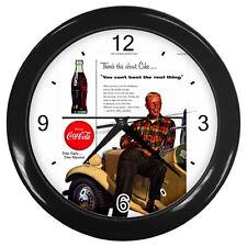 Wall Clock Coca Cola Retro Ads 1934 Drive Safely  Rare Design!