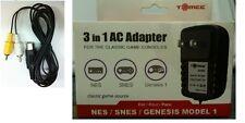 NEW 10V DC 1.2 amp   AC POWER CORD ADAPTER  & AV CABLE FOR SEGA GENESIS 1 1601
