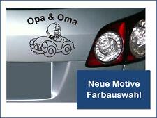 "Kfz-, Auto Aufkleber, Baby Aufkleber  ""Opa und Oma"" Neue Motive, Farbauswahl"