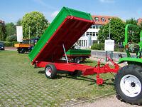 KRUEMA!! DK3500 Einachs Dreiseiten Kipp Anhänger mit Auflaufbremse Kipper 3,5 t