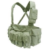 Condor CR OD Green 7 Pocket Tactical 5.56/.223 Chest Magazine Carrier Vest Rig