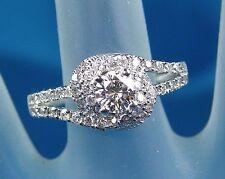 1.41 CT Total Weight Genuine Diamond Ring - EGL Cert - 14KT White Gold