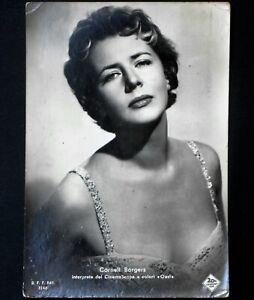 cornell borgers cartolina viaggiata postcard vintage anni 60 american actress id