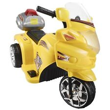 3 Wheels Kids Ride On 6V Toy Motorcycle Electric Battery Powered Bicycle Yellow