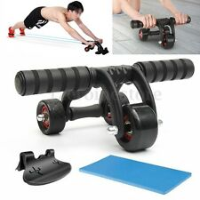 3 Wheel Abdominal Ab Muscle Fitness Roller Sport Training System Gym Exerciser