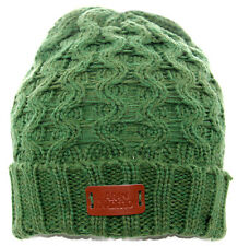 Aran Traditions Womans Ladies Winter Warm Knitted Style Emerald Green Beanie Hat