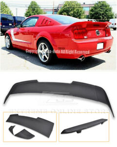Tail Wing Matte Black Tail Style Rear Trunk ABS Spoiler Wing Fit for Ford Mustang 2005-2009