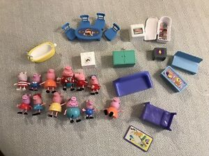 Peppa Pig Figures, Furniture and Accessories Lot 28 Piece