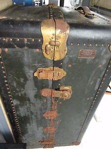 Vintage Indestructo Victorian Domed Wardrobe Steamer Trunk