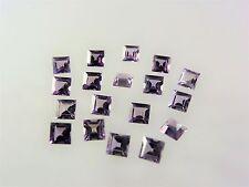 Alexandrite 5x5mm Square Cut Loose CZ Stones Color Change Gemstones LOT