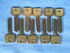 10 Ford Ignition H51 1167FD Blank Jet Brass Keys for Years 1965 On NEW