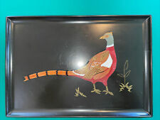 Couroc of Monterey California Monarch Pheasant Tray 18 x 12.5 inches