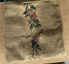 """Waterford 24""""X24"""" Decorative Pillow Cover- Textured Cotton/Polyester Gold Trim"""
