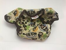 New ListingBlueberry Cloth Diaper Cover Shell Monkey Print Snap buttons One Size