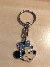 1 retro Blue Polka Dot Minnie mouse keyring
