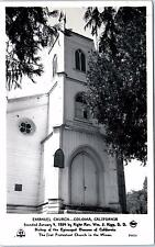 RPPC  COLOMA, CA California    EMANUEL CHURCH     1953   Frasher    Postcard